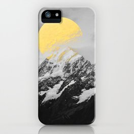 Moon dust mountains iPhone Case