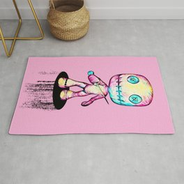 Crazy Voodoo Doll With A Pin Rug