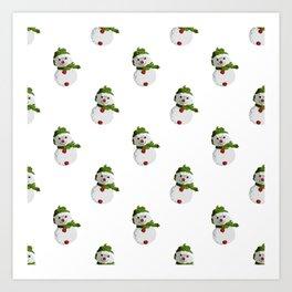 Snowman Pattern (OLD) Art Print