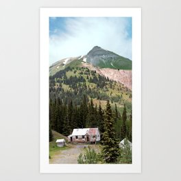 Country Schoolhouse at the Gold Rush Idarado Mine Art Print