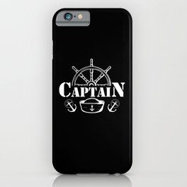 Boat Captain Boating Enthusiast Sailing Love iPhone Case
