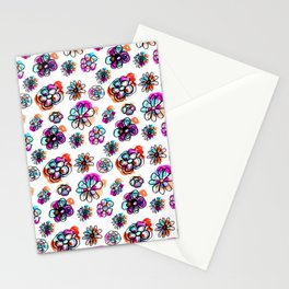 colorful fall floral Stationery Cards