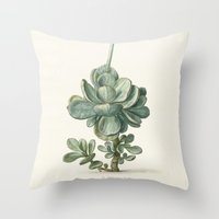 succulent Throw Pillows featuring Succulent by anipani