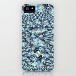 Blue Fractal Lace iPhone Case