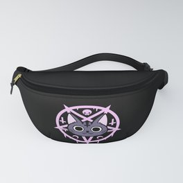 Black Meowgic 04 Fanny Pack
