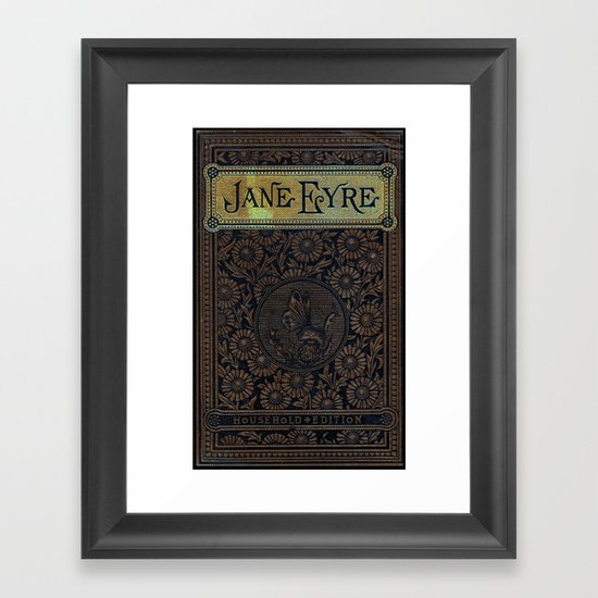 Jane Eyre by Charlotte Bronte, Vintage Book Cover by forgottencotton