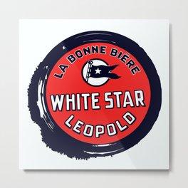 Belgian Beer White Star Metal Print