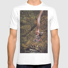 Collage #47 White MEDIUM Mens Fitted Tee