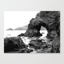 Low Tide Length by Jessi Fikan Black and White Canvas Print