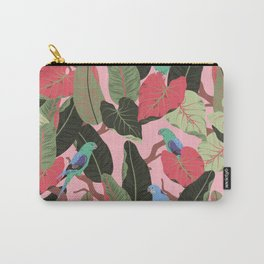 Sunny Hawaii Tropical Exotic Birds of Paradise Carry-All Pouch