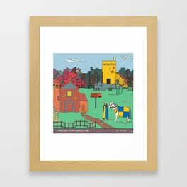 Afternoon at the Medieval Age Framed Art Print