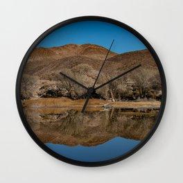 Pahranagat NWR Winter Reflections - 1 Wall Clock