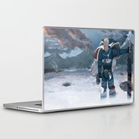 warhammer Laptop & iPad Skins featuring Warhammer 40,000 Space Wolf Marine by Derek Boman