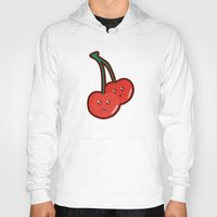 kawaii Hoodies featuring Kawaii Cherry by Nir P
