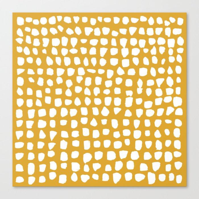 Dots (Mustard Yellow) Leinwanddruck