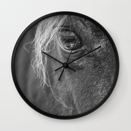 Seen Thru The Eye Wall Clock