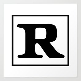 Rated R Art Print