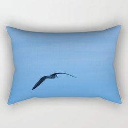 Seagull in a Blue Sky Rectangular Pillow
