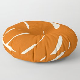 Burnt Oranges Palm Leaf Floor Pillow