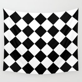 Diamond Black And White Wall Tapestry