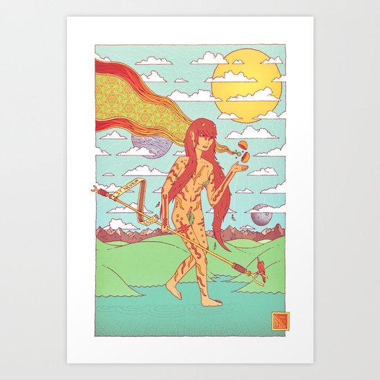 The Happen Dasher.  Art Print