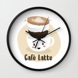 Café Latte Wall Clock