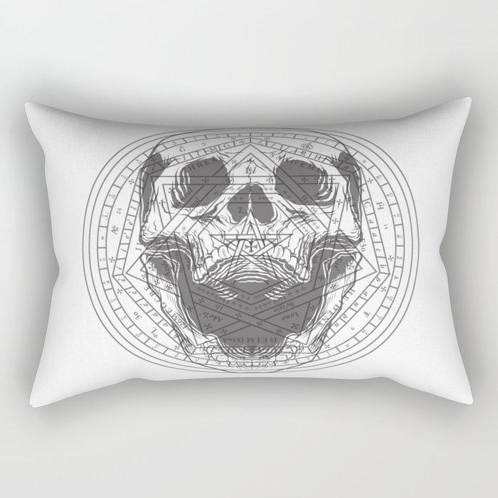 Skull of John Dee Rectangular Pillow