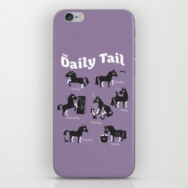 The Daily Tail Horse iPhone Skin