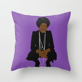 Nina Miss Simone Throw Pillow