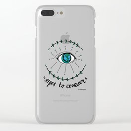 Eyes to conquer Clear iPhone Case