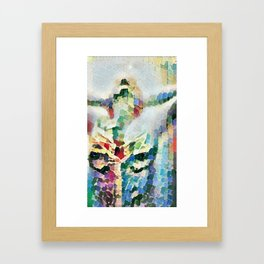 Steamy shower Framed Art Print