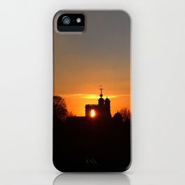 Sunset Over The Royal Observatory at Greenwich Park, London iPhone Case