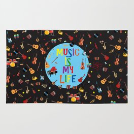 Music is my life Rug