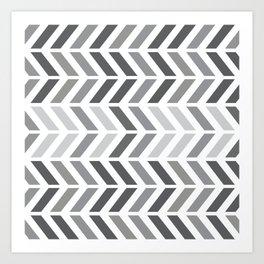 chevron horizontal Art Print