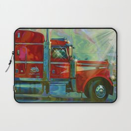The Trucker - Red Lorry Artwork Laptop Sleeve