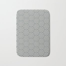 Geometrical, floral, circle, triangle pattern in neutral tints. Pop art style Bath Mat