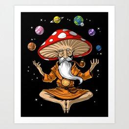 Buddha Magic Mushroom Art Print