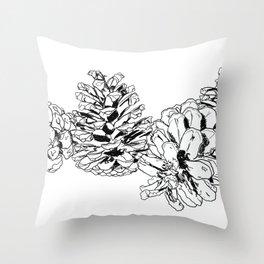 White Pine Cones Throw Pillow