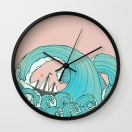 As the ship rides the waves  Wall Clock