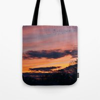 twilight Tote Bags featuring Twilight by Stephen Linhart
