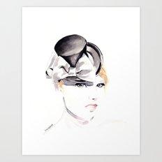 Ella Gajewska Hat. Top Hat. Fashion Illustration Art Print