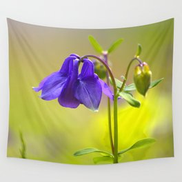 Purple Columbine In Spring Mood Wall Tapestry