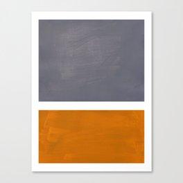 Grey Yellow Ochre Rothko Minimalist Mid Century Abstract Color Field Squares Canvas Print
