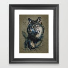 Wolf 2 background Framed Art Print