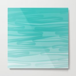 Bahama Blue Line Art, Variable Opacity Color Study - 2 Metal Print