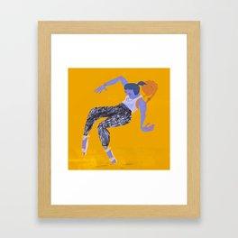 Purple Girl Framed Art Print
