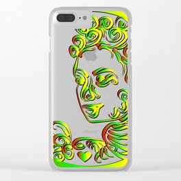 Grenada Queen Goddess Abstract Clear iPhone Case