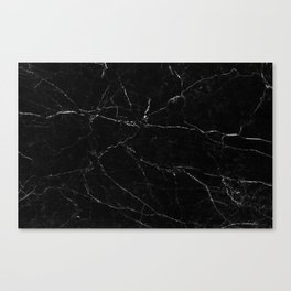 Black Marble Print Canvas Print