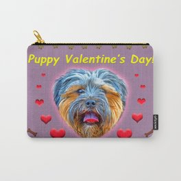 Puppy Valentine's Day! Carry-All Pouch