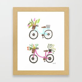 bicycle trip Framed Art Print